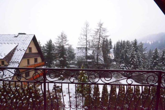 Apartament 5, widok z balkonu